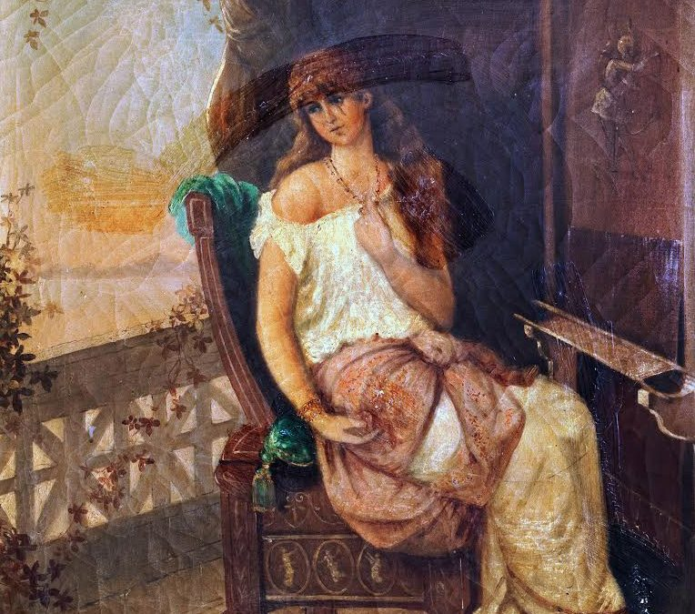 A Lady Seated on a Balcony painting know as Penelope