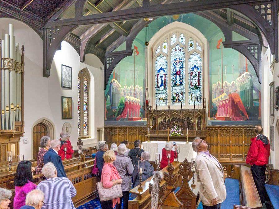 St Cuthberts Chruch Lytham interior & frescos - copywright Brian Turner 2017