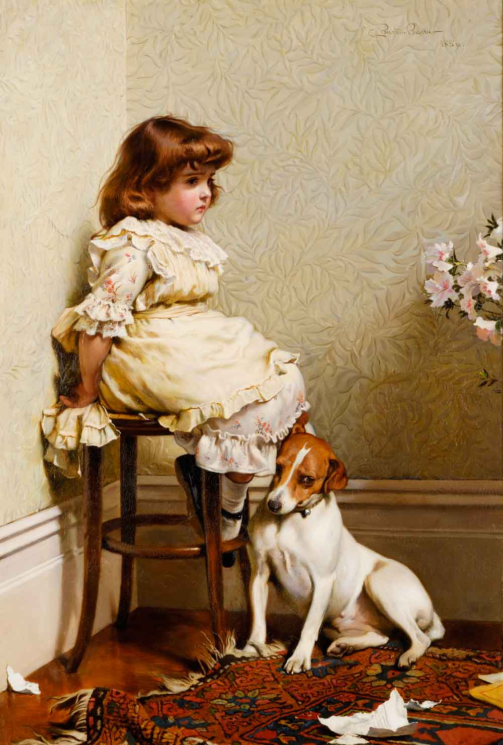 In Disgrace - 1886 - painted by Charles Burton Barber 1845-1894