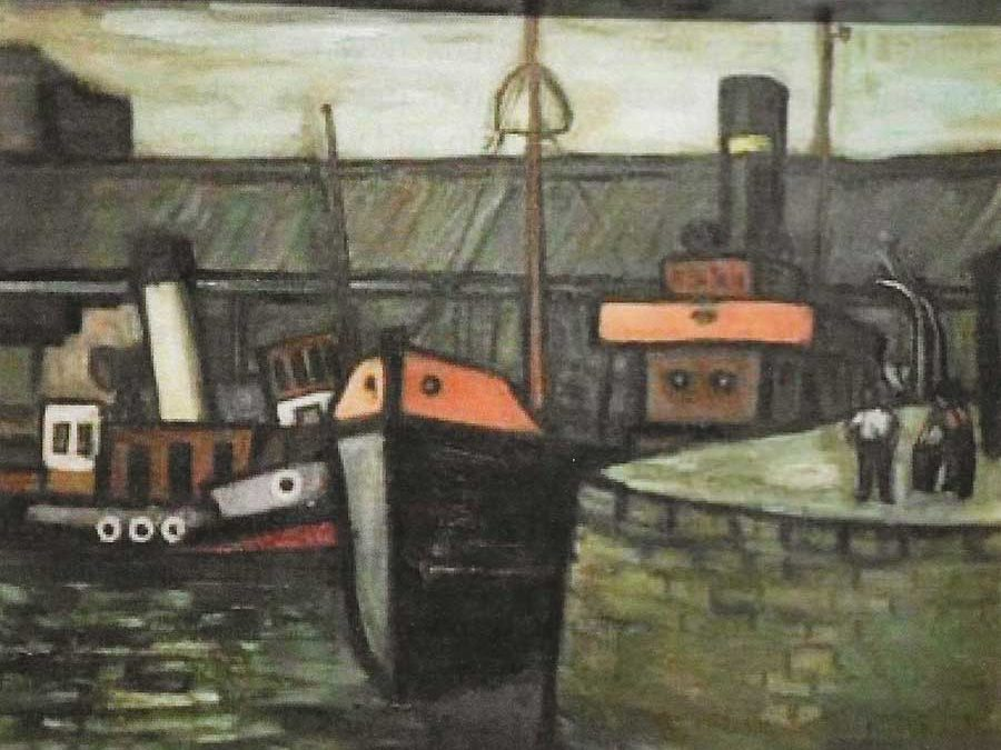 Wyre Dock by Kathleen White, 1922-1987