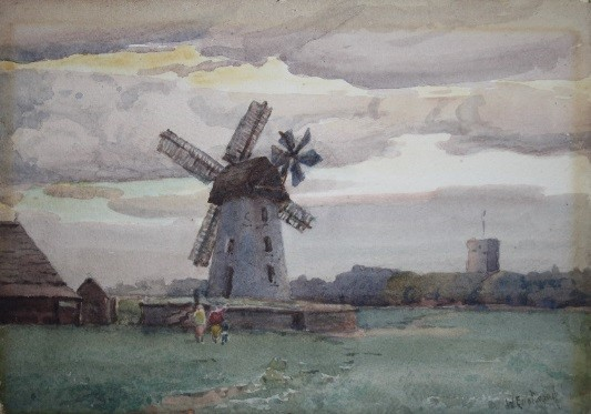 Lytham Windmill Looking West' by Walter Eastwood