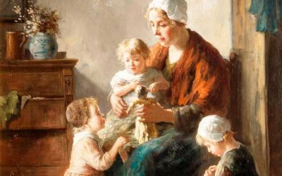Mother & Children Painting Donated by Richard Shore In 1946