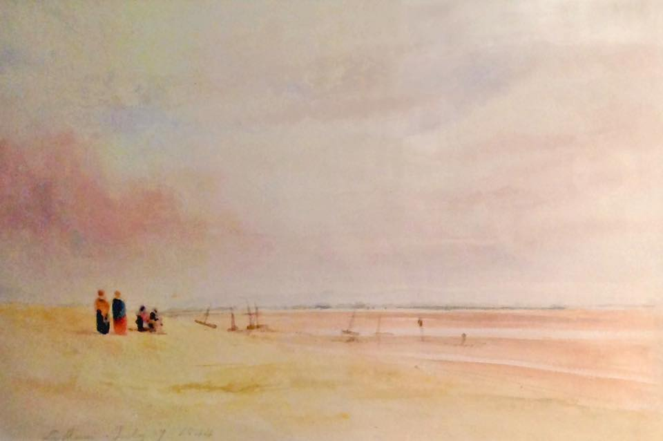 The Beach at Lytham, a watercolour painting by John Linnell (1792-1882)