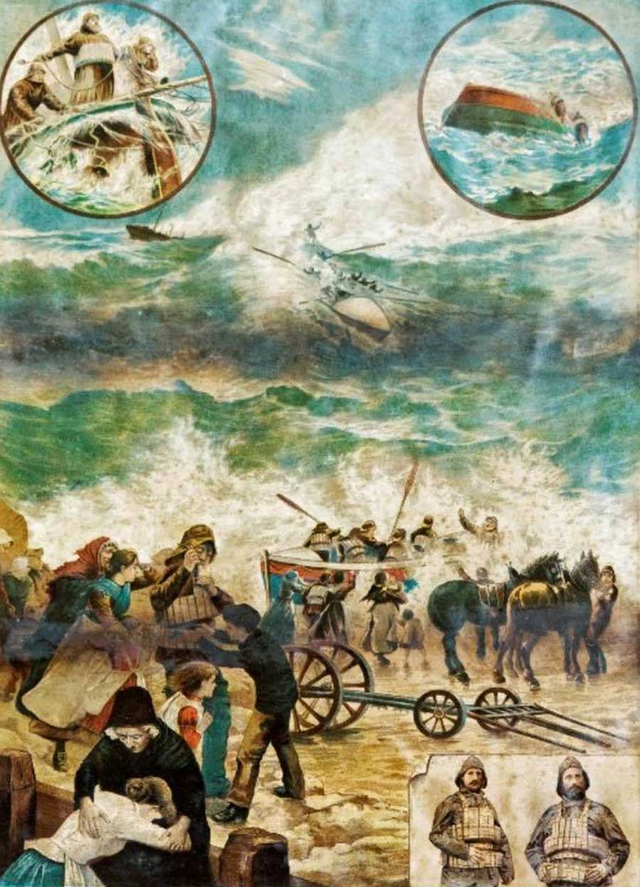 Painting of the Mexico Disaster of 1886