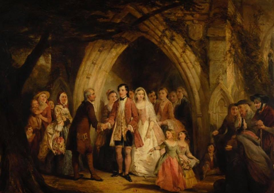 The Village Wedding painting by Thomas Falcon Marshall (1818-1878)
