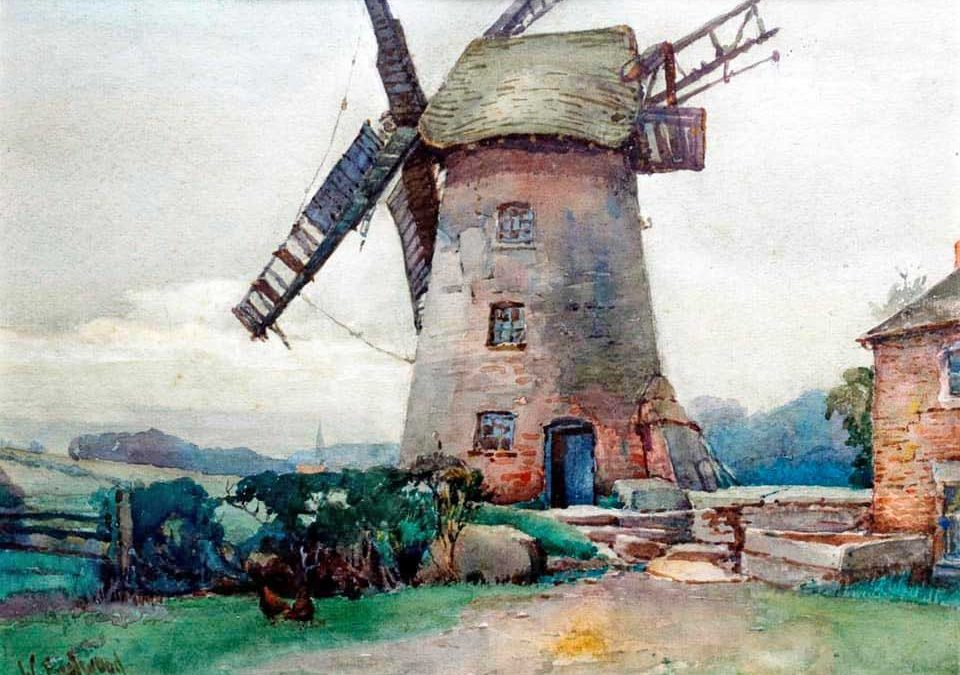 Derelict Treales Mill by Walter Eastwood (1867-1943)