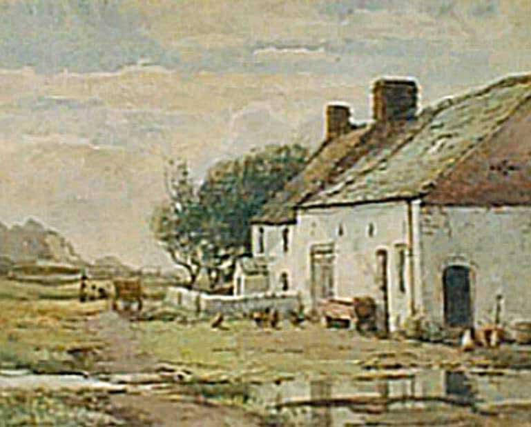 Gillett's Cross Slack Farm watercolour painting by Walter Eastwood