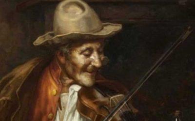 An Italian Fiddler By D. Farnetti 1896