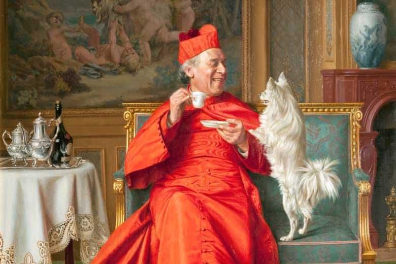 L'impatien - an oil on canvas painting by Italian Artist Andrea Landini (1847-1912)