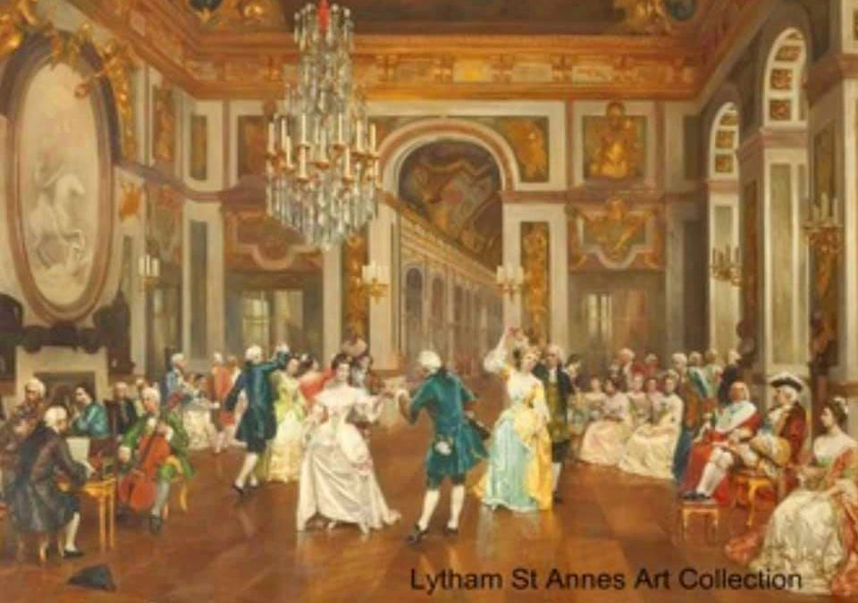 The Minuet by Filipino Baratti (1849-1936) - an oil on canvas painting